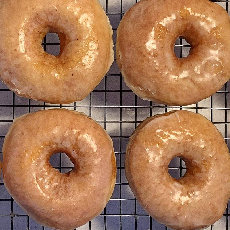 Raised and Glazed Vanilla Donuts